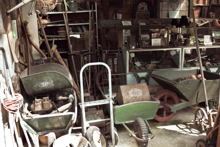 Old gardening machinery and equipment