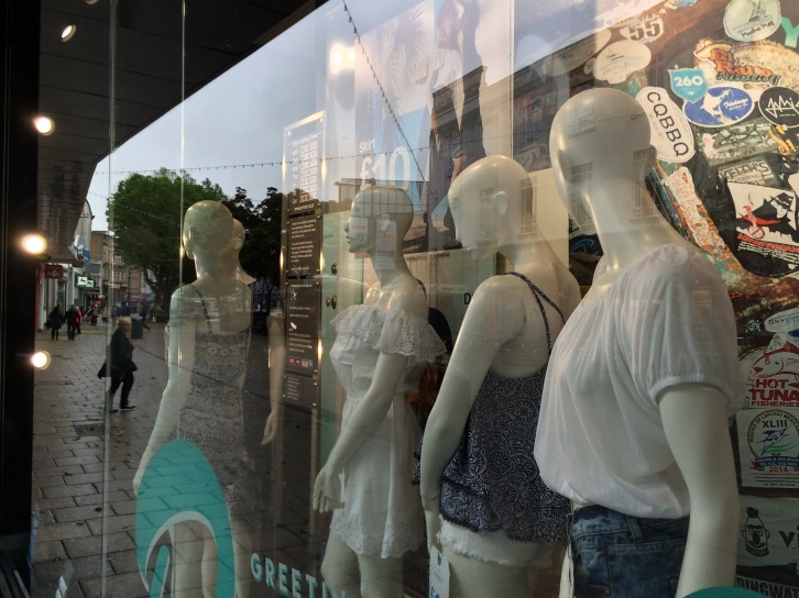 Shop window reflections